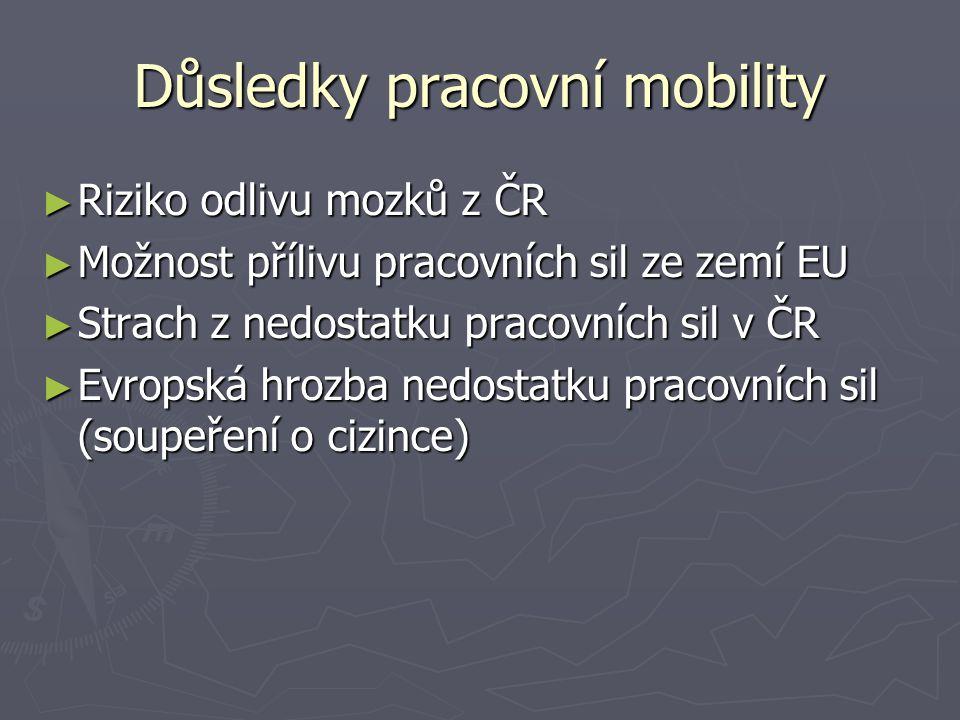 Důsledky pracovní mobility