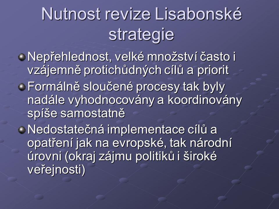 Nutnost revize Lisabonské strategie