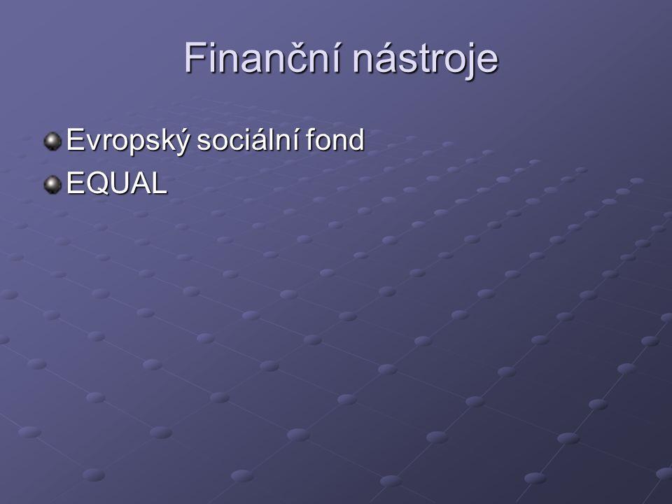 Finanční nástroje Evropský sociální fond EQUAL