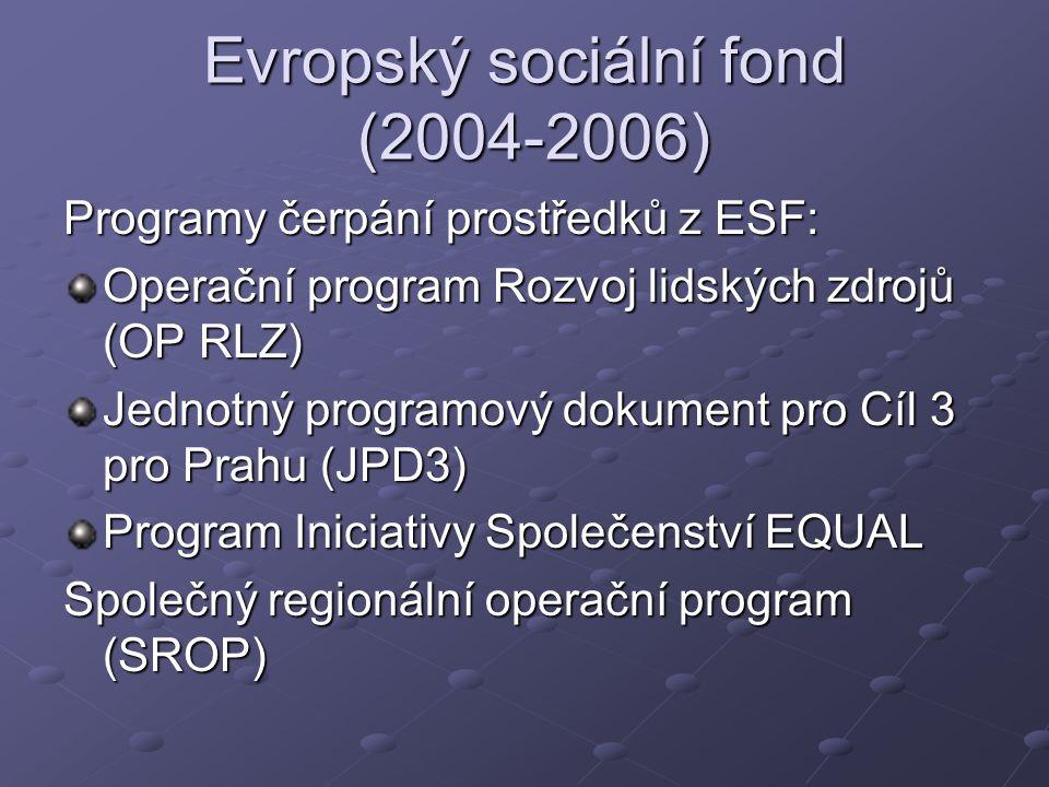 Evropský sociální fond (2004-2006)