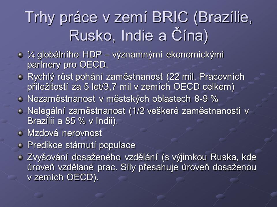 Trhy práce v zemí BRIC (Brazílie, Rusko, Indie a Čína)