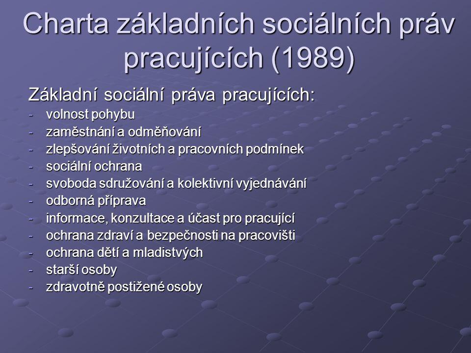 Charta základních sociálních práv pracujících (1989)