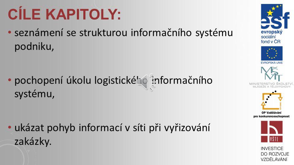 Cíle kapitoly: seznámení se strukturou informačního systému podniku,