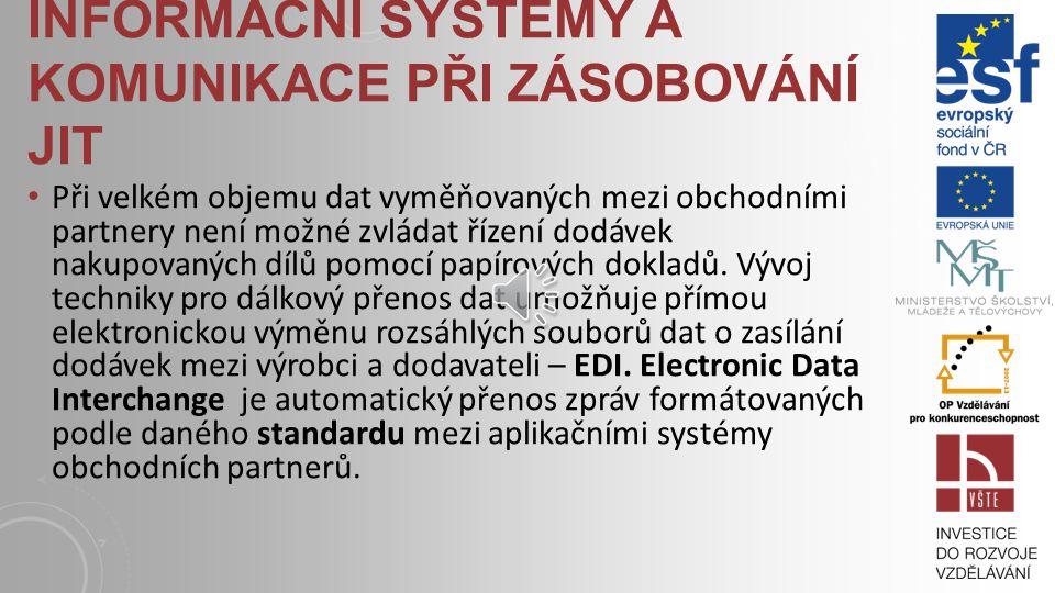 Informační systémy a komunikace při zásobování JIT