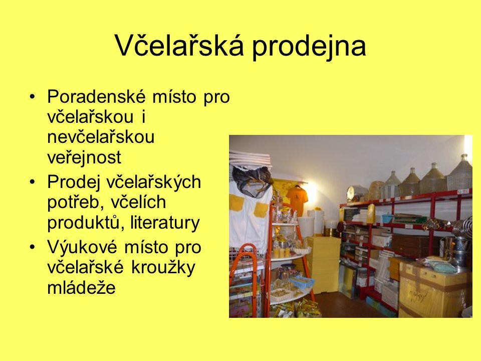 Včelařská prodejna Poradenské místo pro včelařskou i nevčelařskou veřejnost. Prodej včelařských potřeb, včelích produktů, literatury.