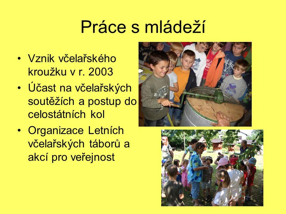 Práce s mládeží Vznik včelařského kroužku v r. 2003