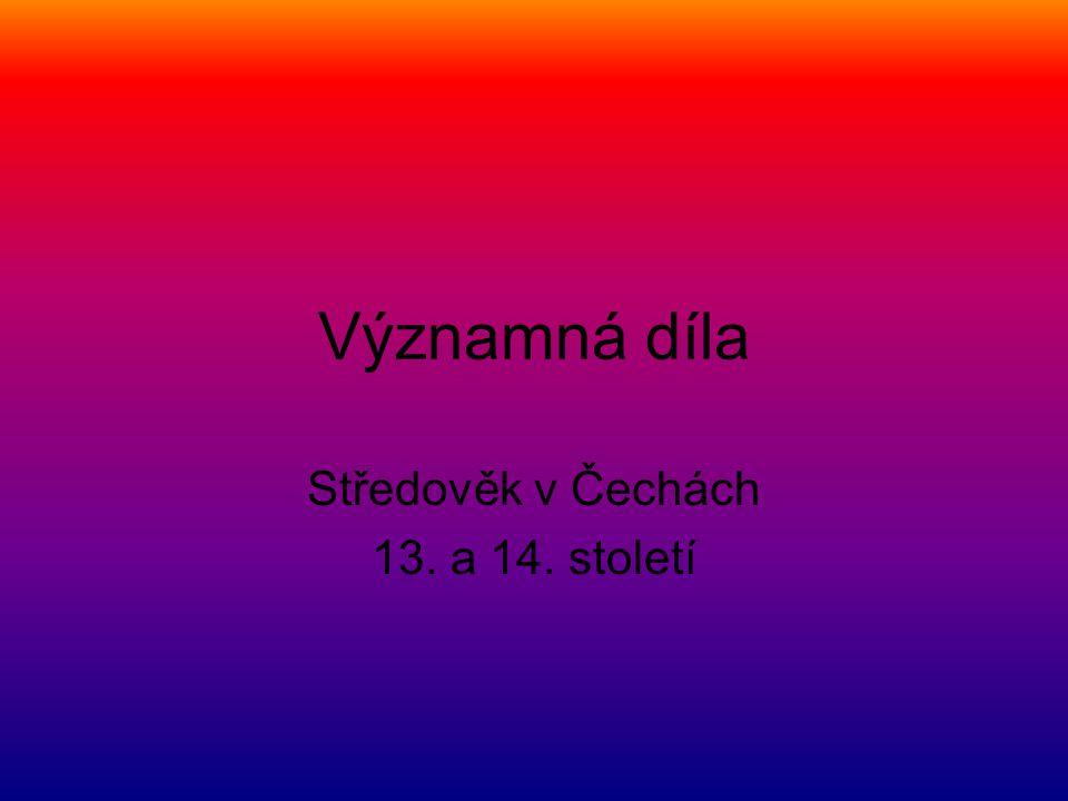 Středověk v Čechách 13. a 14. století