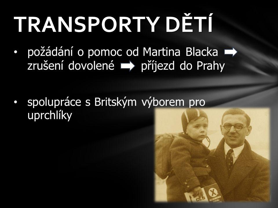 TRANSPORTY DĚTÍ požádání o pomoc od Martina Blacka zrušení dovolené příjezd do Prahy.