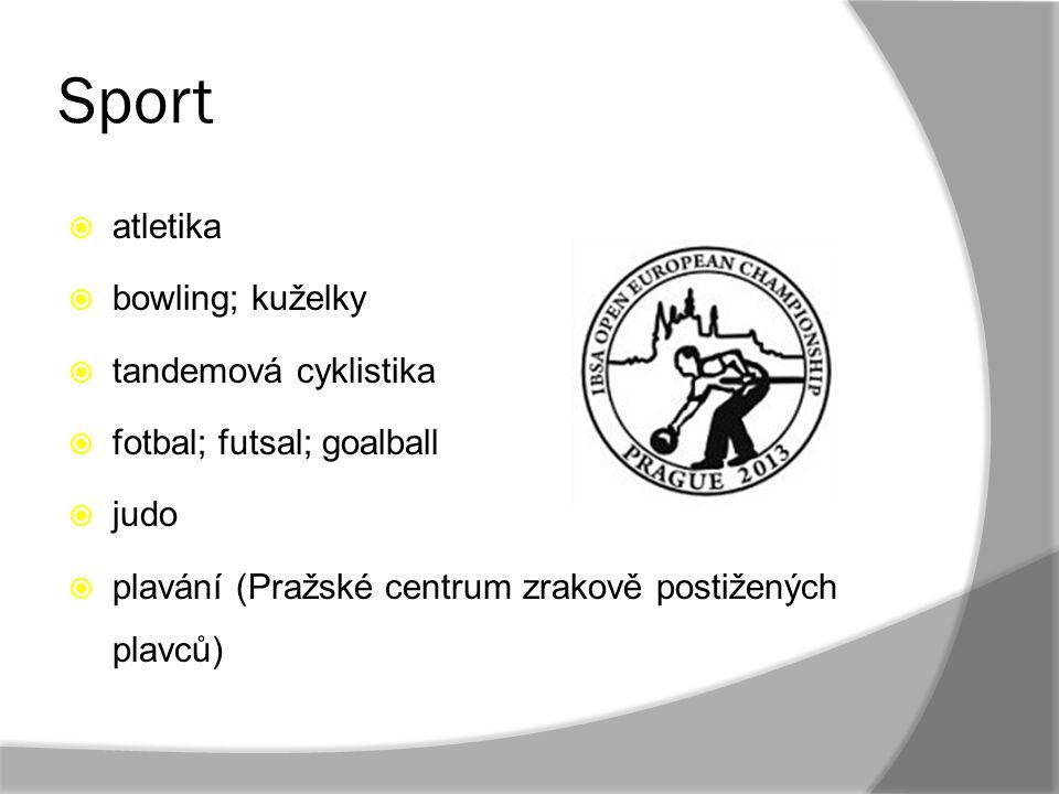 Sport atletika bowling; kuželky tandemová cyklistika