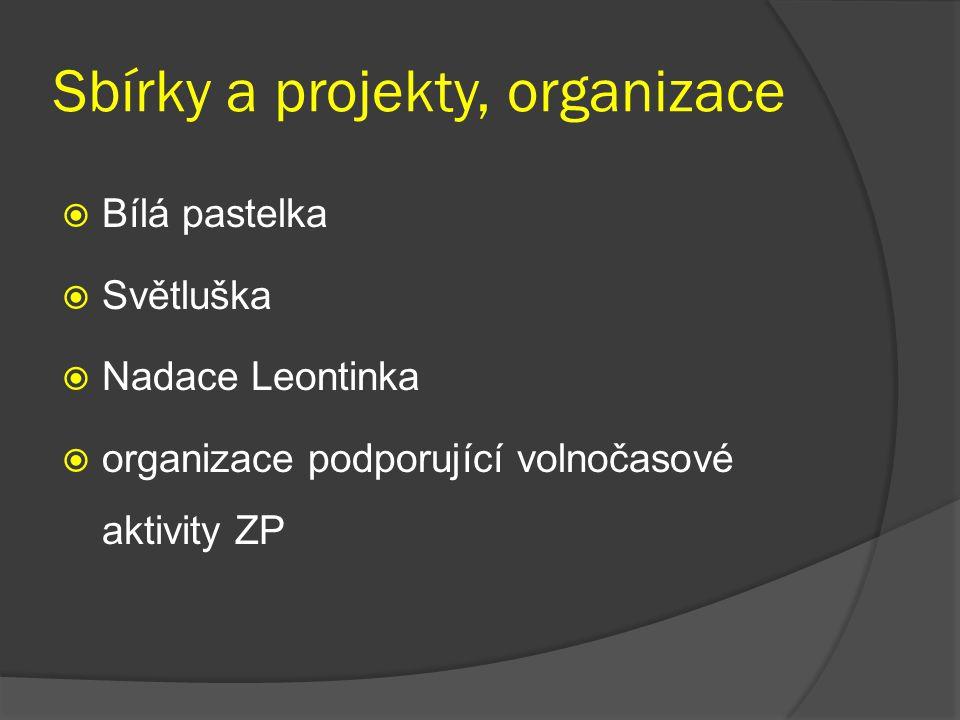 Sbírky a projekty, organizace