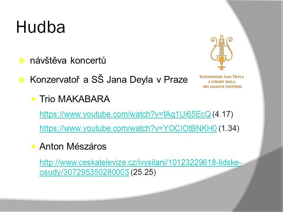 Hudba návštěva koncertů Konzervatoř a SŠ Jana Deyla v Praze