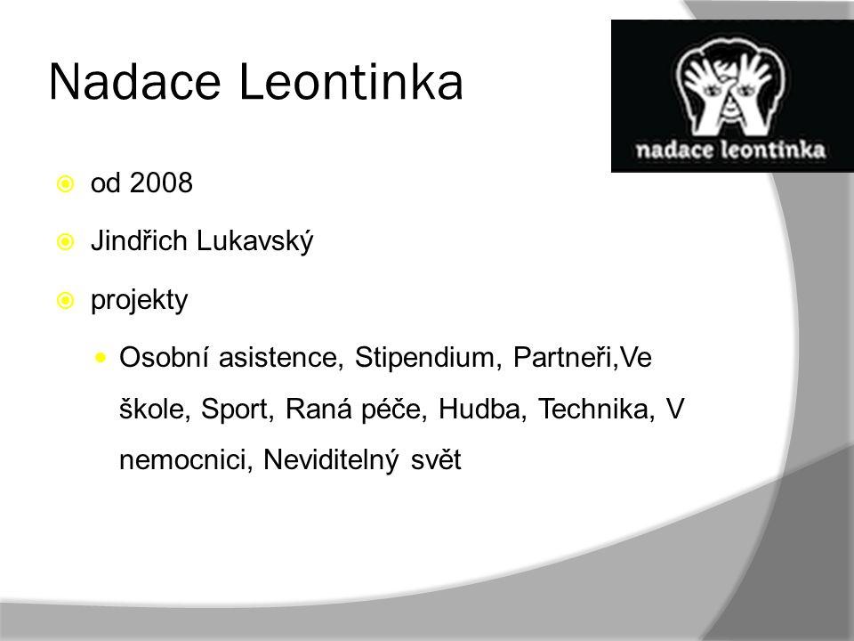 Nadace Leontinka od 2008 Jindřich Lukavský projekty
