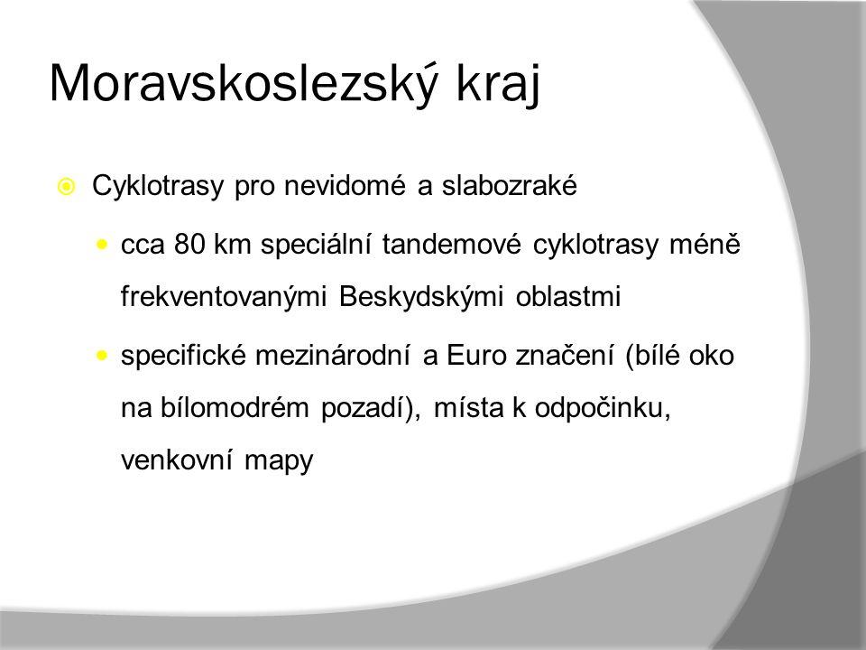 Moravskoslezský kraj Cyklotrasy pro nevidomé a slabozraké
