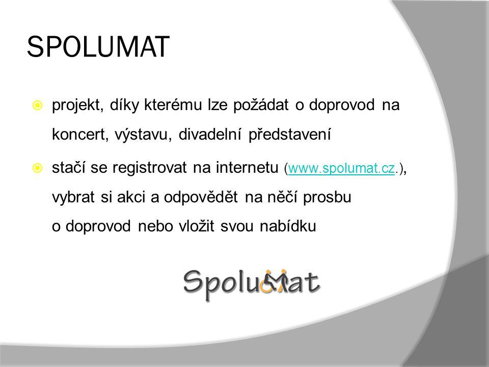 SPOLUMAT projekt, díky kterému lze požádat o doprovod na koncert, výstavu, divadelní představení.
