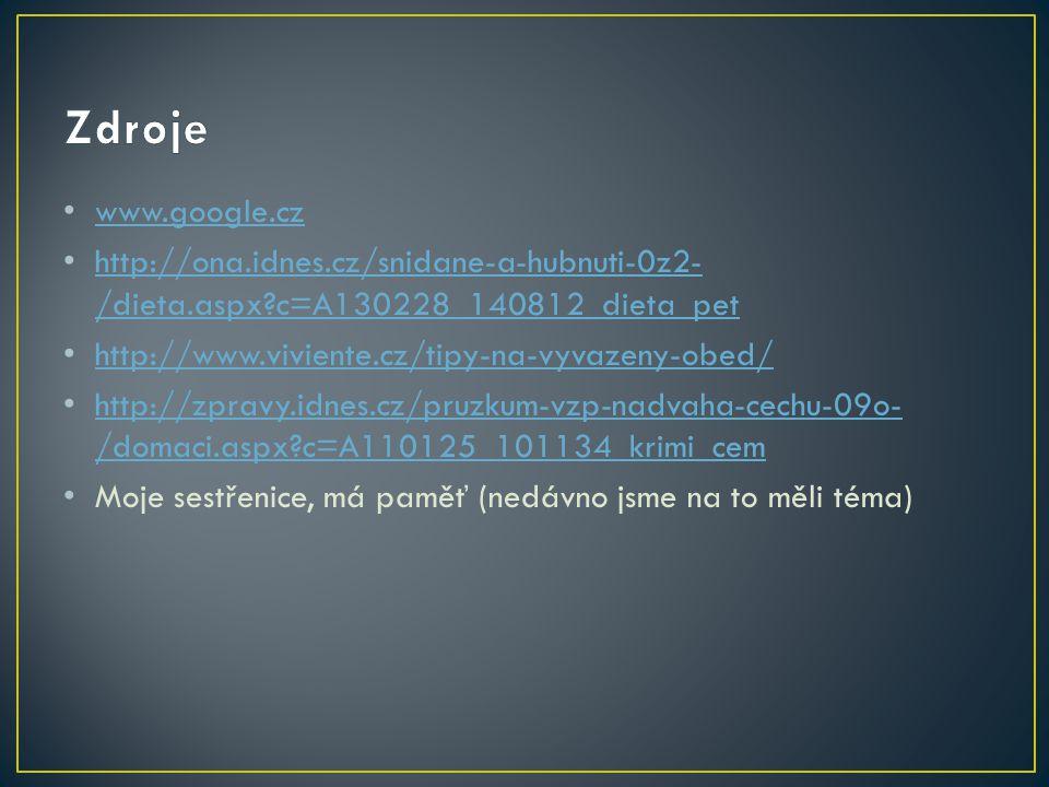 Zdroje www.google.cz. http://ona.idnes.cz/snidane-a-hubnuti-0z2-/dieta.aspx c=A130228_140812_dieta_pet.