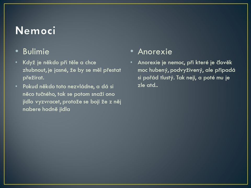 Nemoci Bulimie Anorexie