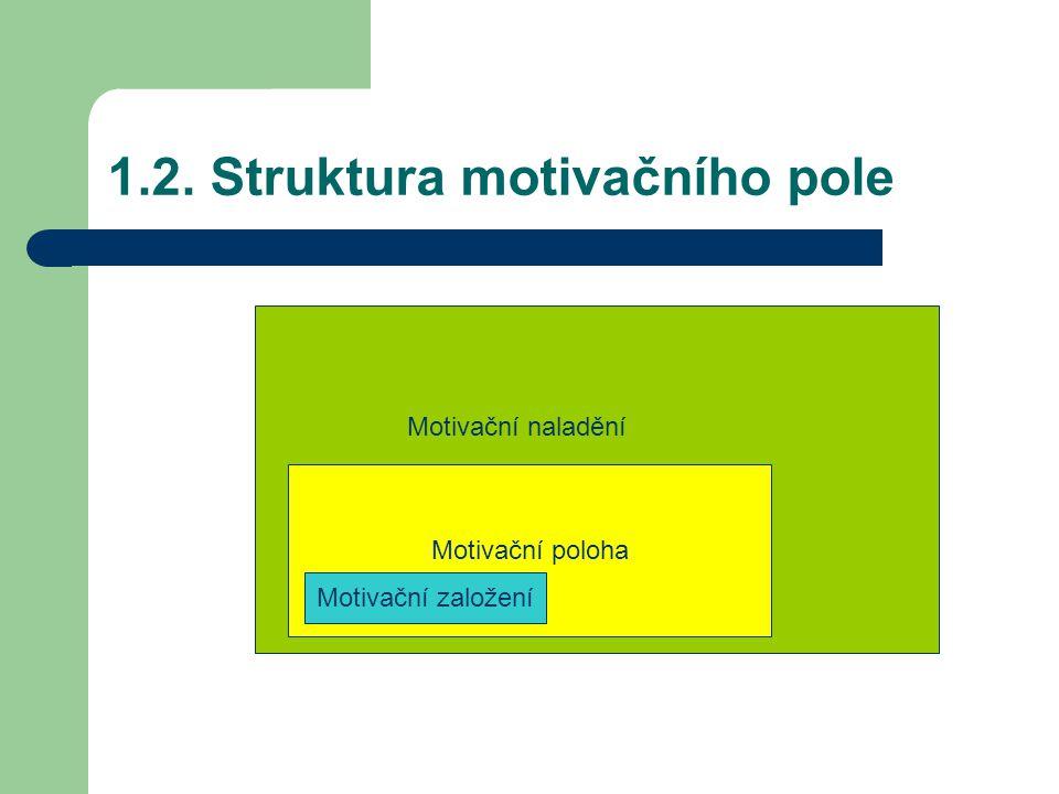 1.2. Struktura motivačního pole