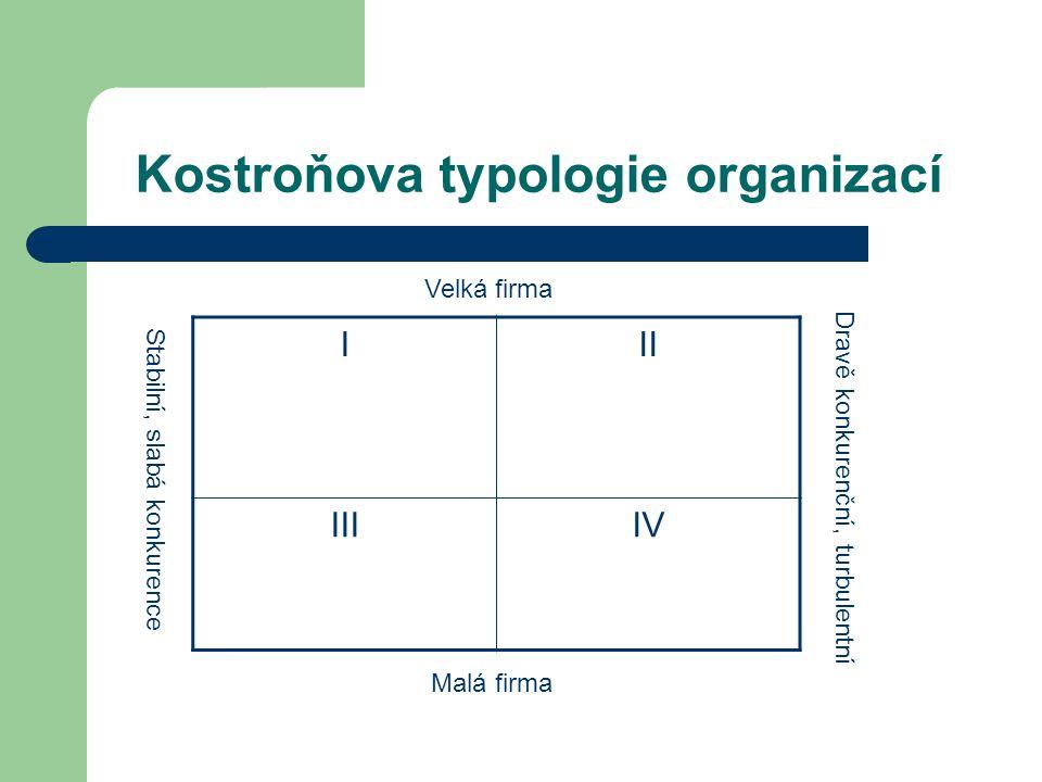 Kostroňova typologie organizací