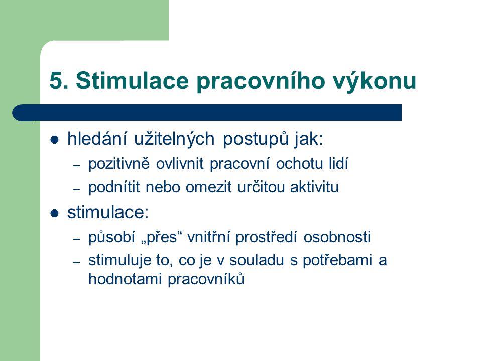 5. Stimulace pracovního výkonu