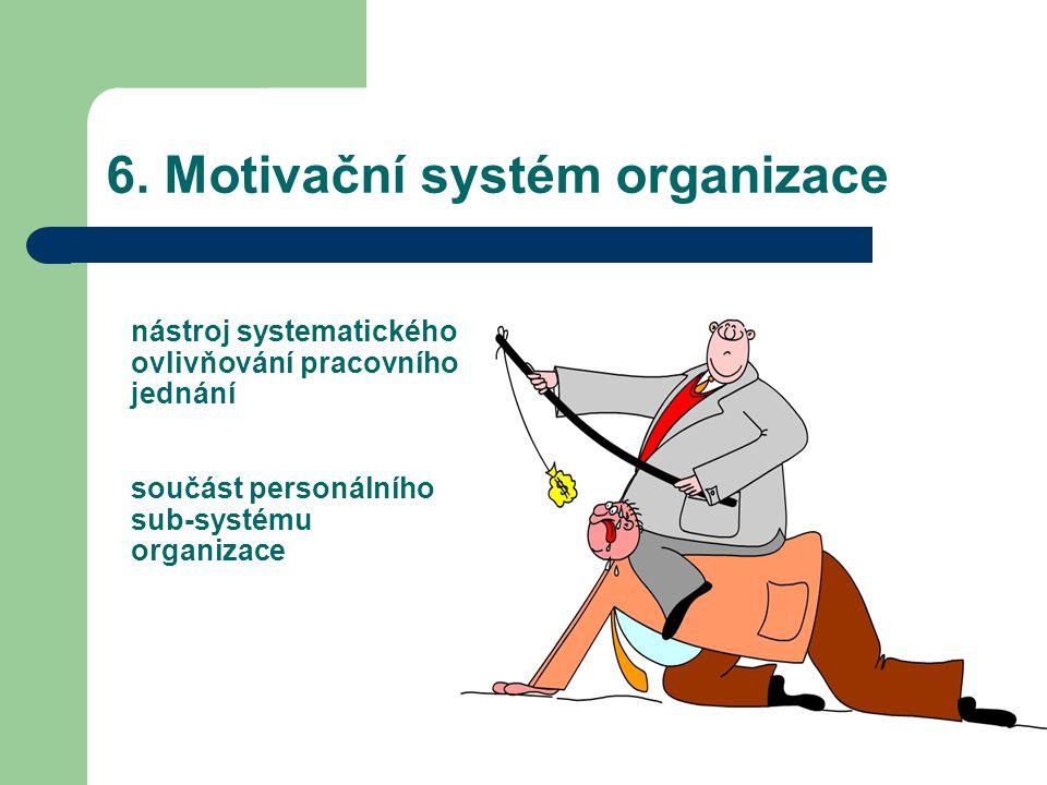 6. Motivační systém organizace