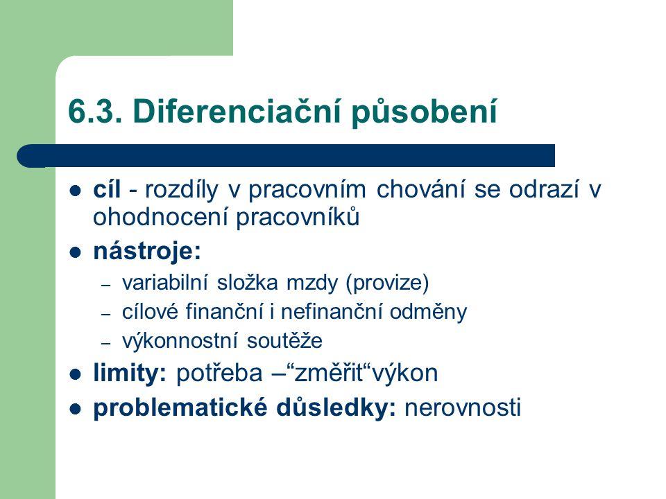 6.3. Diferenciační působení