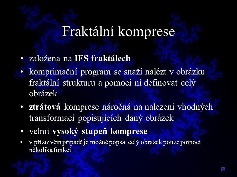 Fraktální komprese založena na IFS fraktálech