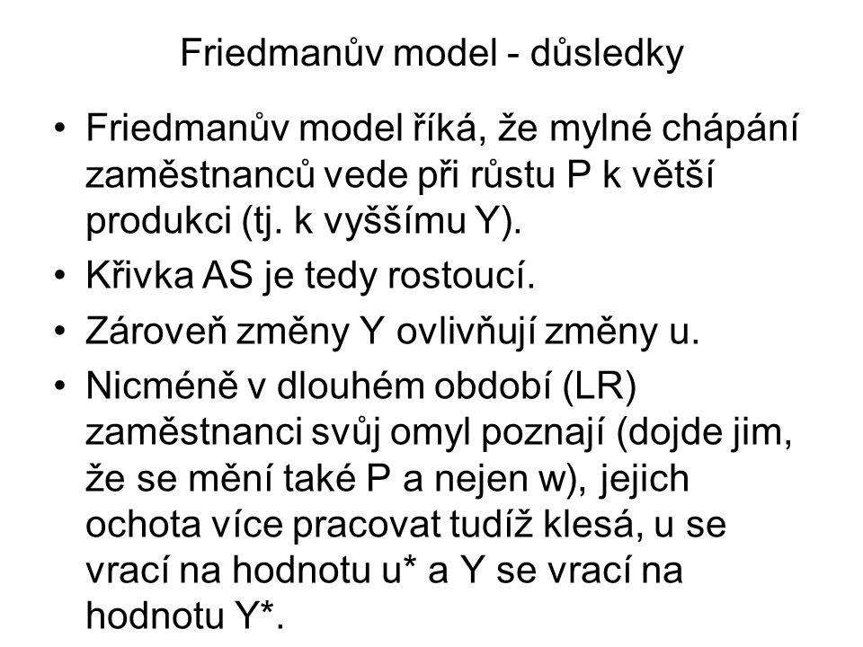 Friedmanův model - důsledky