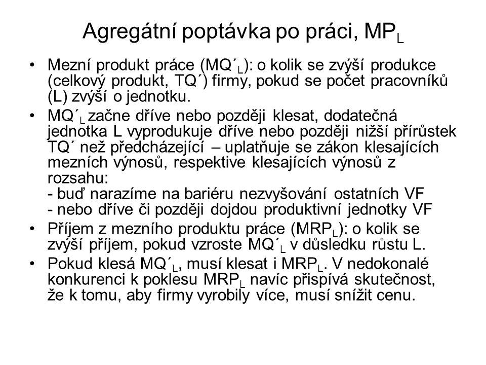 Agregátní poptávka po práci, MPL