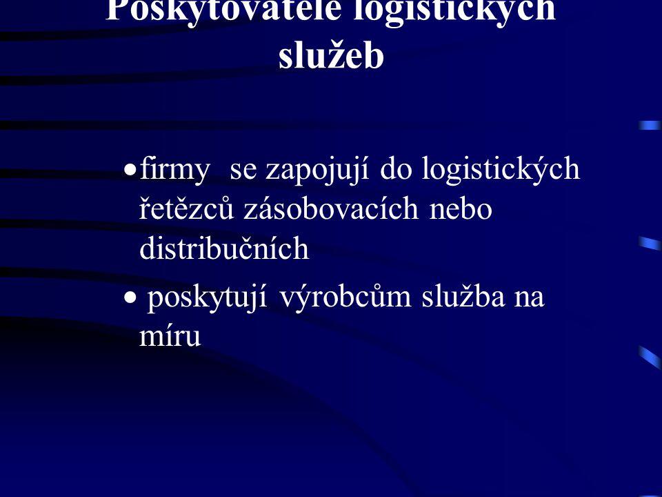 Poskytovatelé logistických služeb