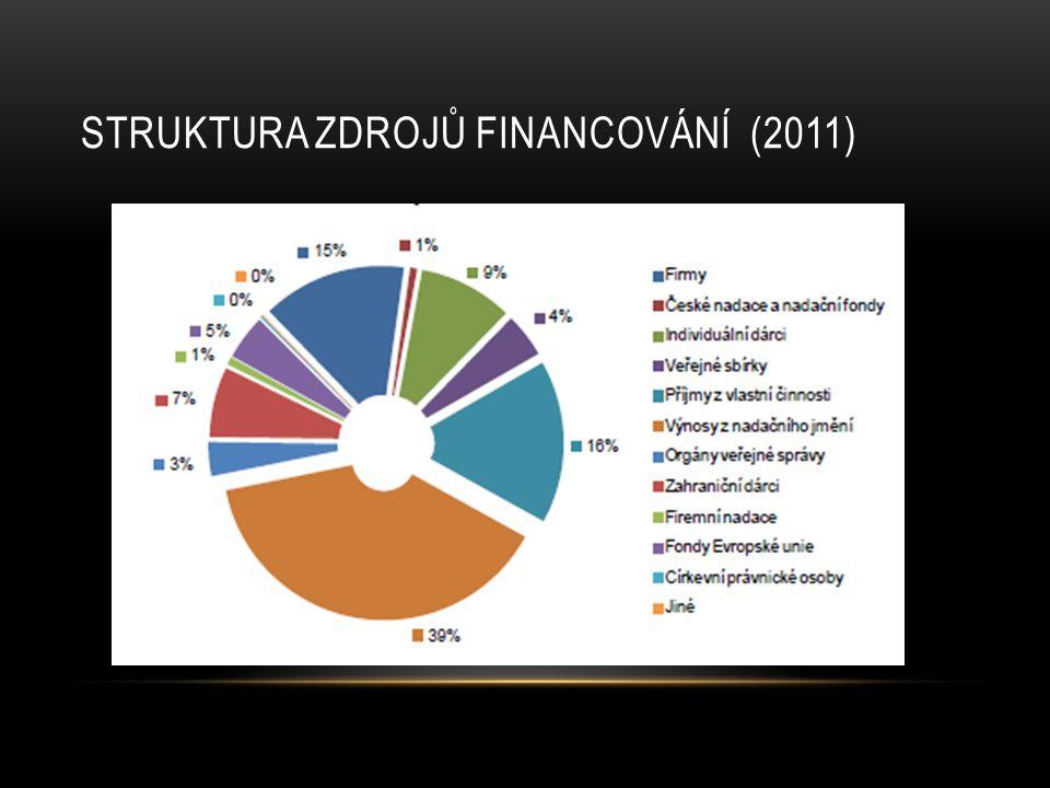 Struktura zdrojů financování (2011)