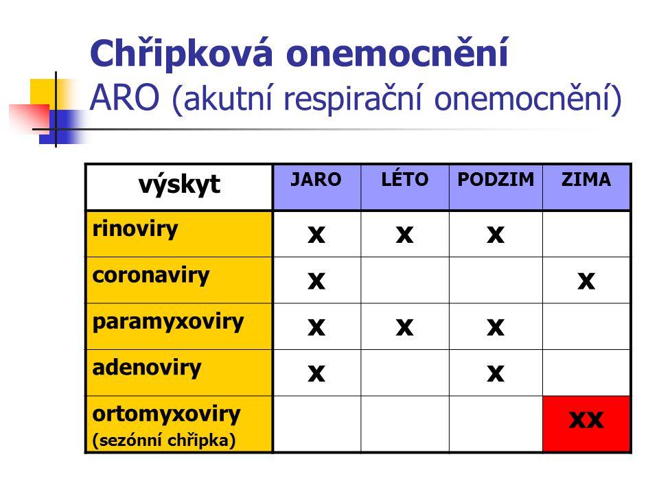 Chřipková onemocnění ARO (akutní respirační onemocnění)