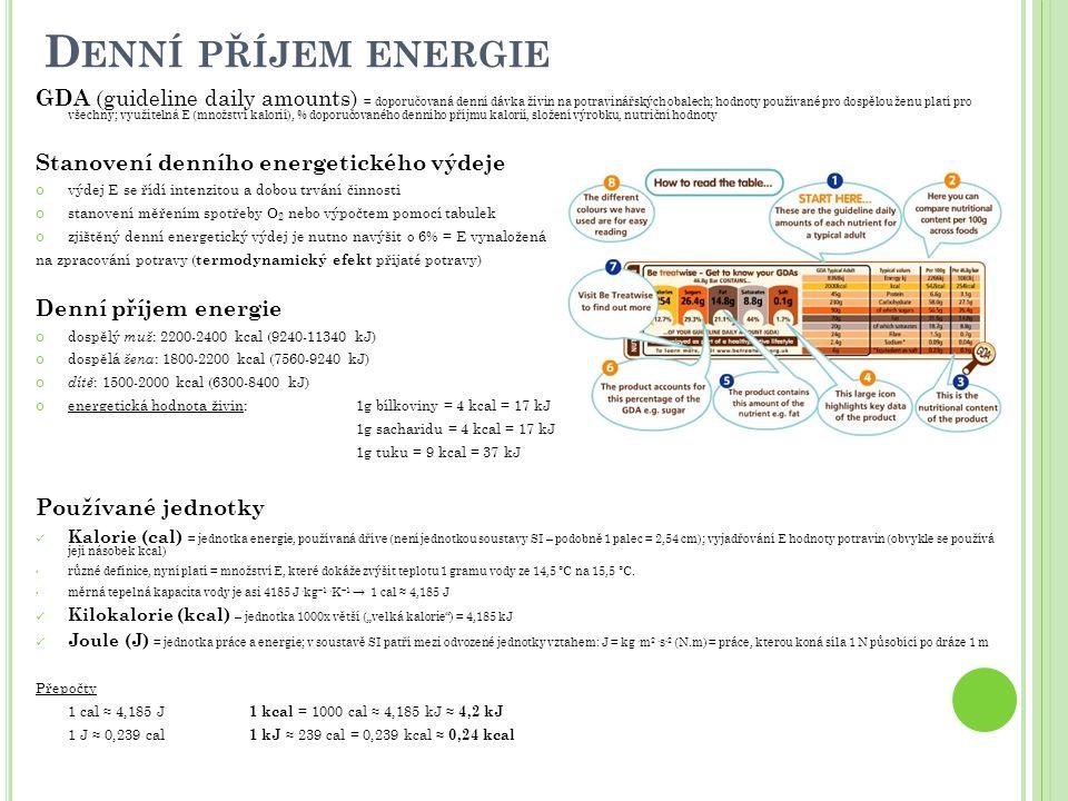 Denní příjem energie