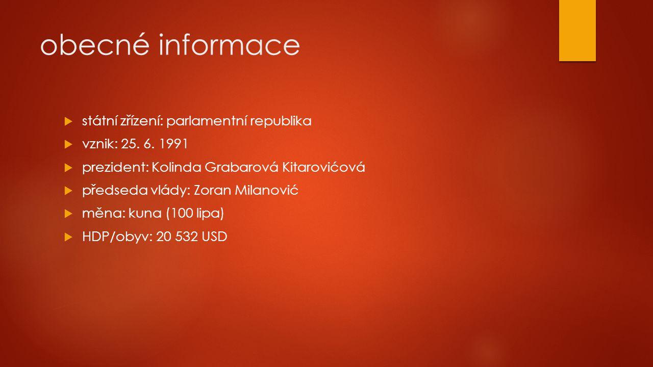 obecné informace státní zřízení: parlamentní republika