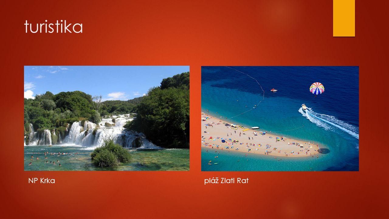 turistika NP Krka pláž Zlati Rat