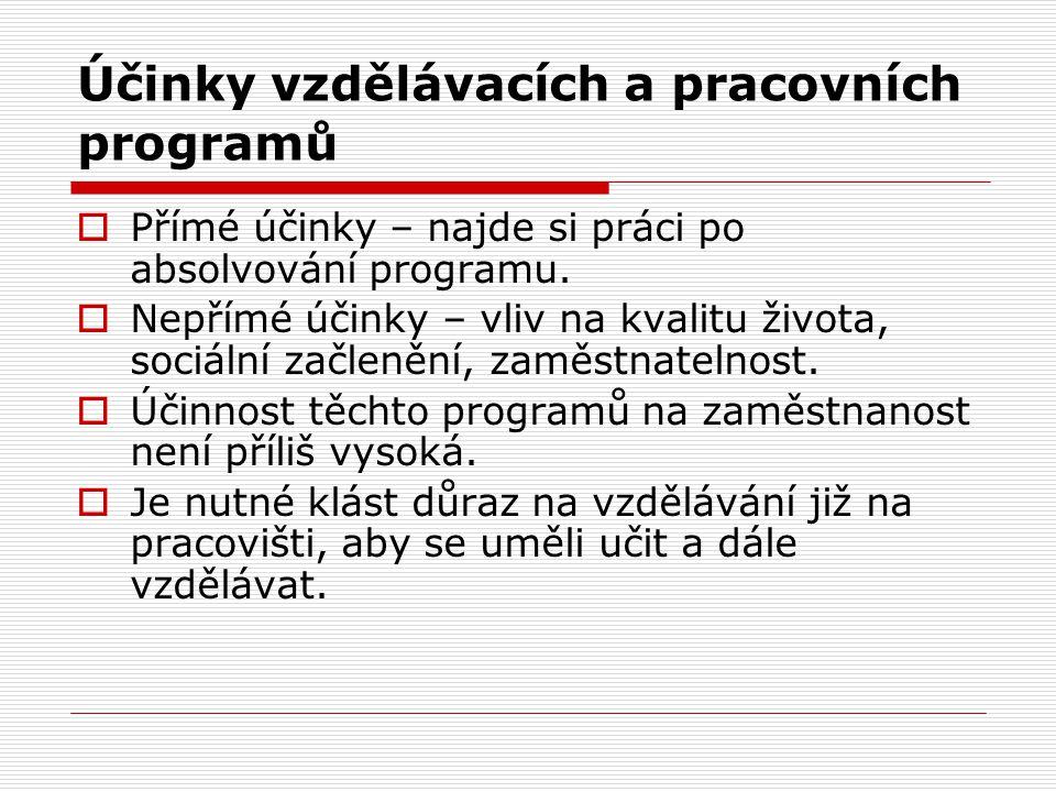 Účinky vzdělávacích a pracovních programů