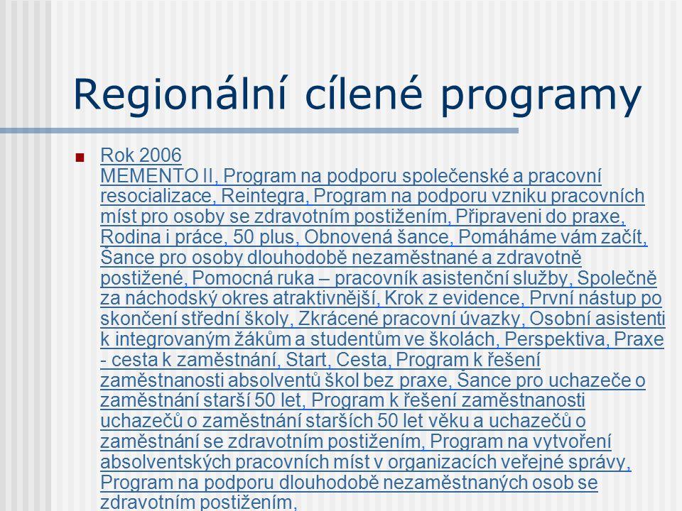 Regionální cílené programy