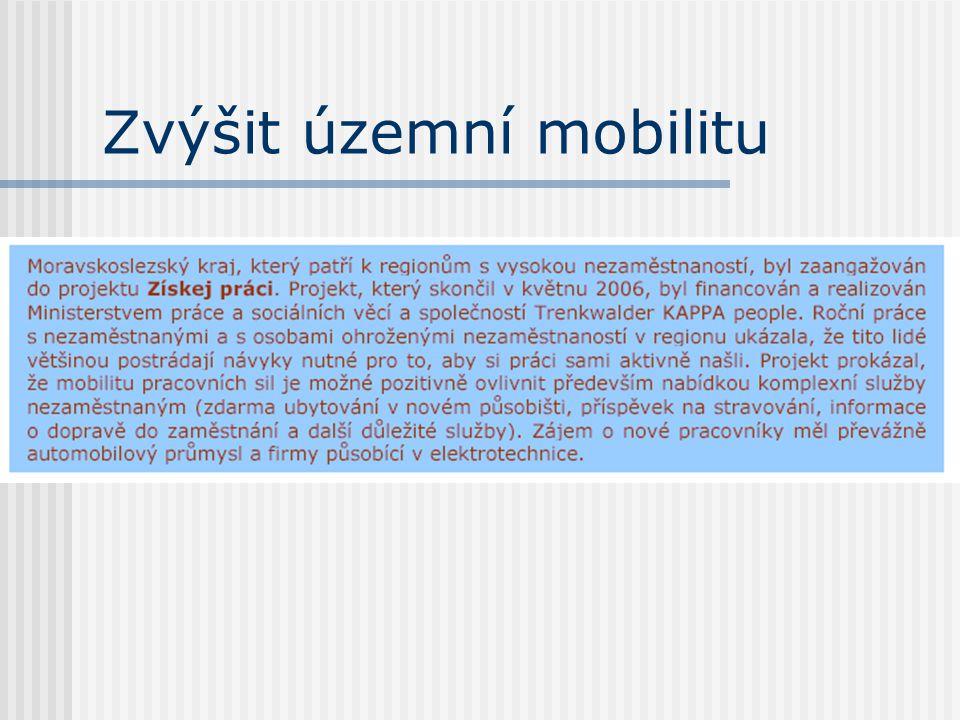 Zvýšit územní mobilitu