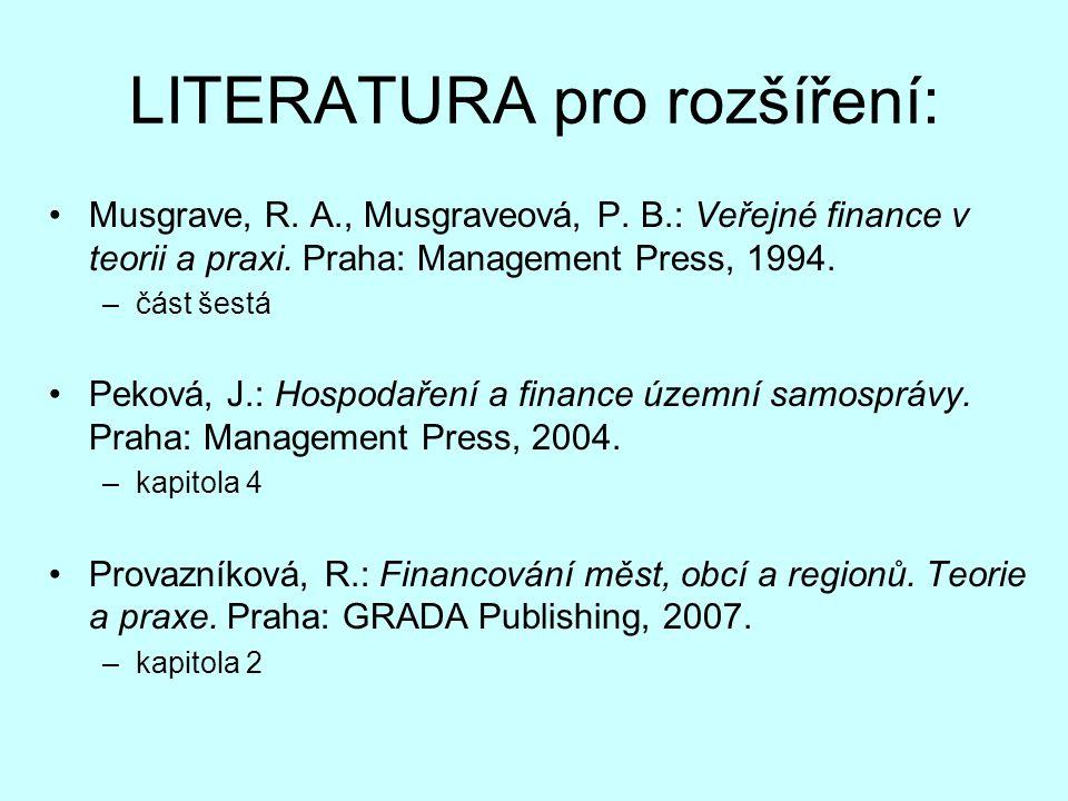 LITERATURA pro rozšíření: