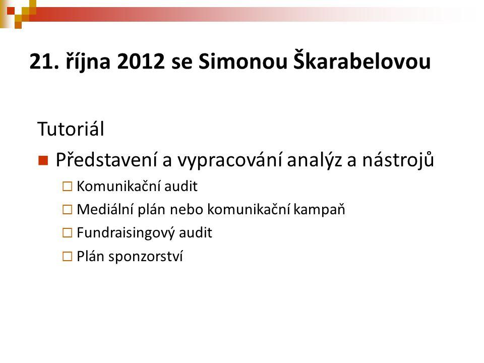 21. října 2012 se Simonou Škarabelovou