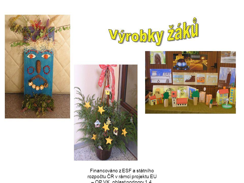 Výrobky žáků Financováno z ESF a státního rozpočtu ČR v rámci projektu EU – OP VK, oblast podpory 1.4.