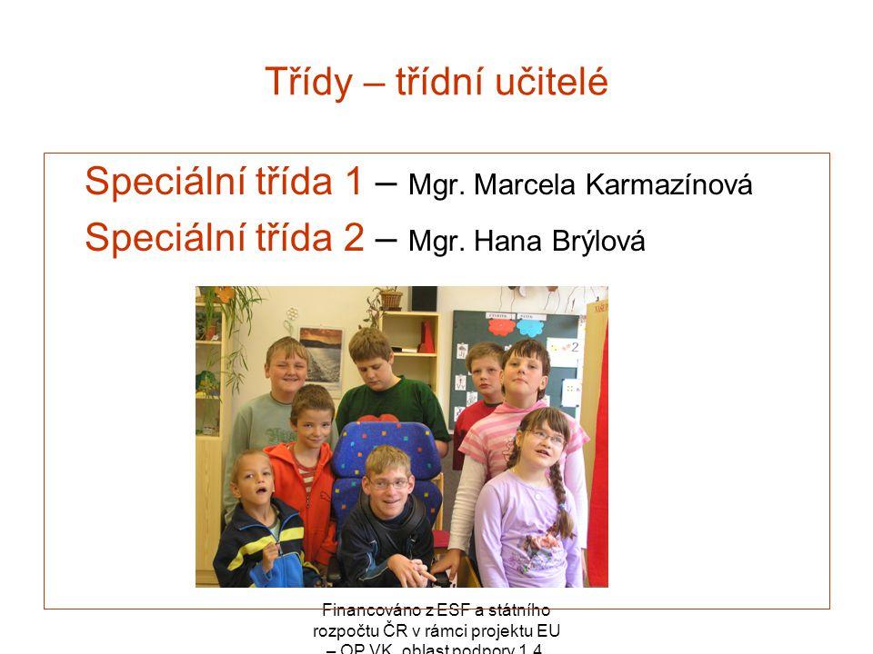 Speciální třída 1 – Mgr. Marcela Karmazínová