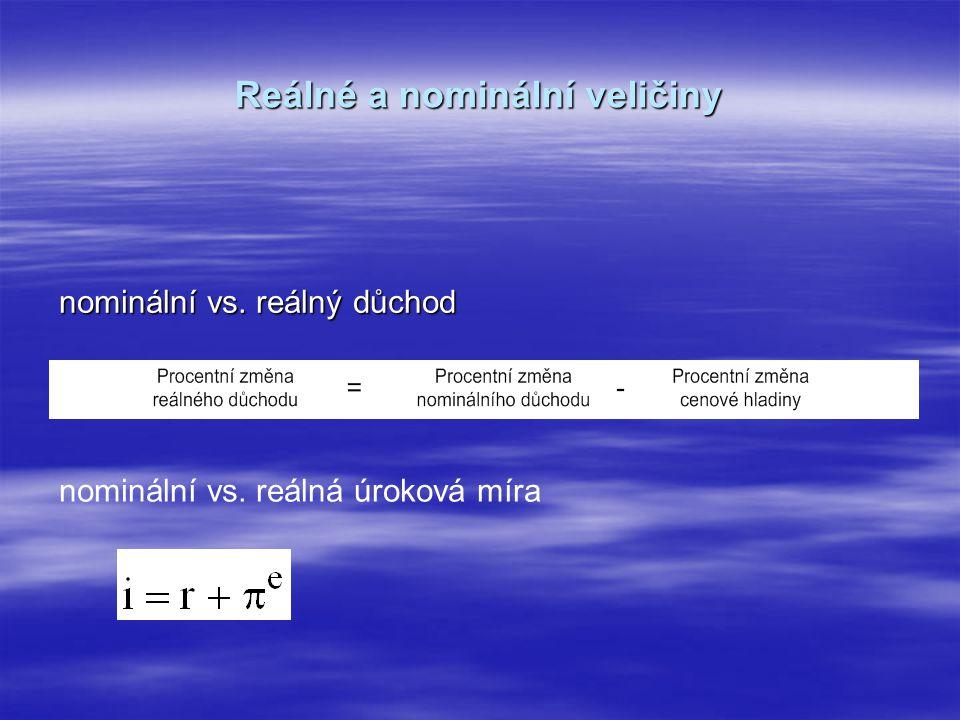 Reálné a nominální veličiny