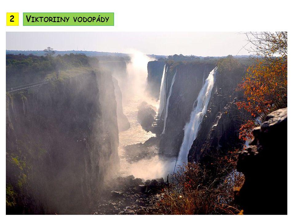 2 Viktoriiny vodopády