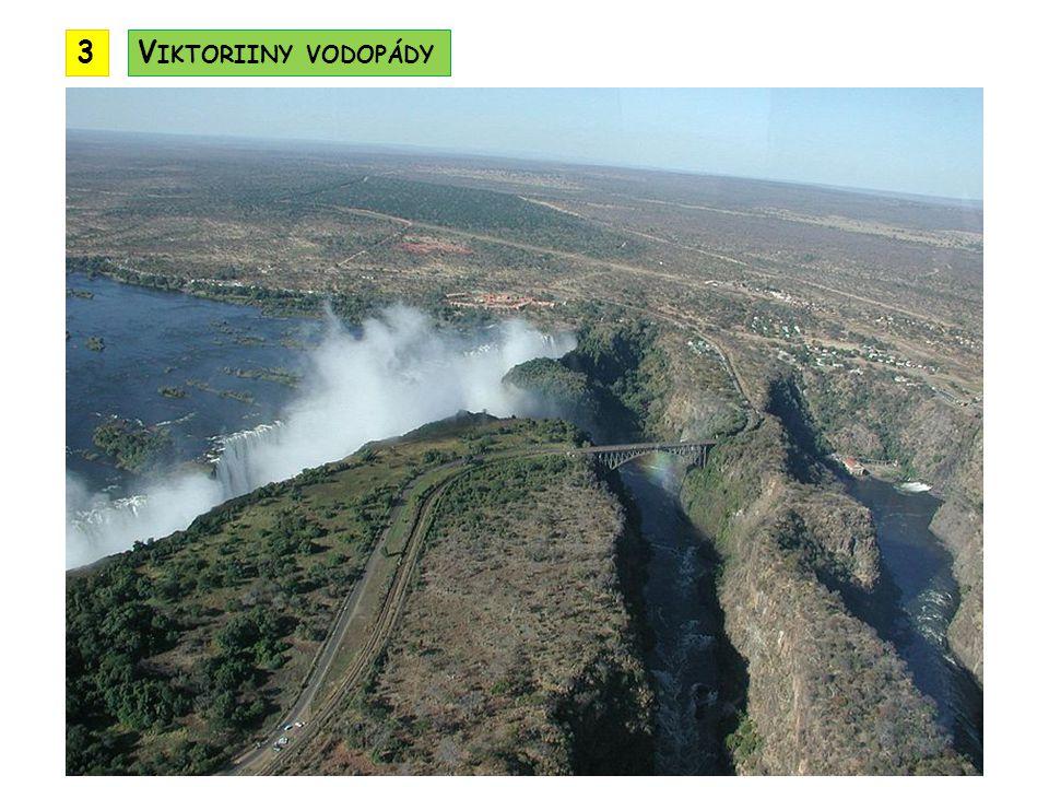 3 Viktoriiny vodopády