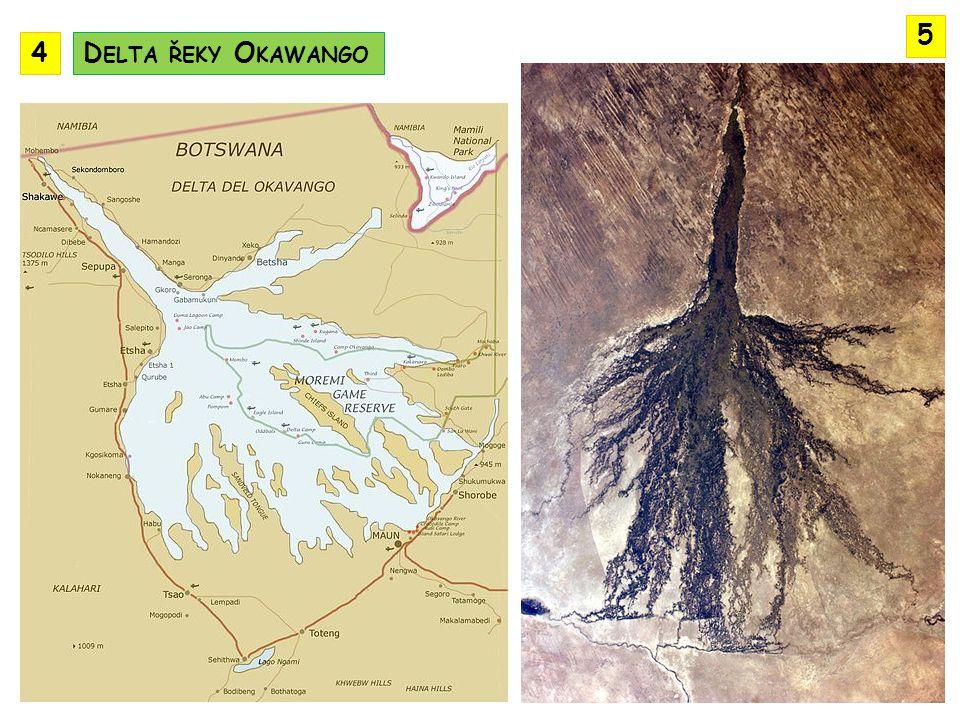 5 4 Delta řeky Okawango