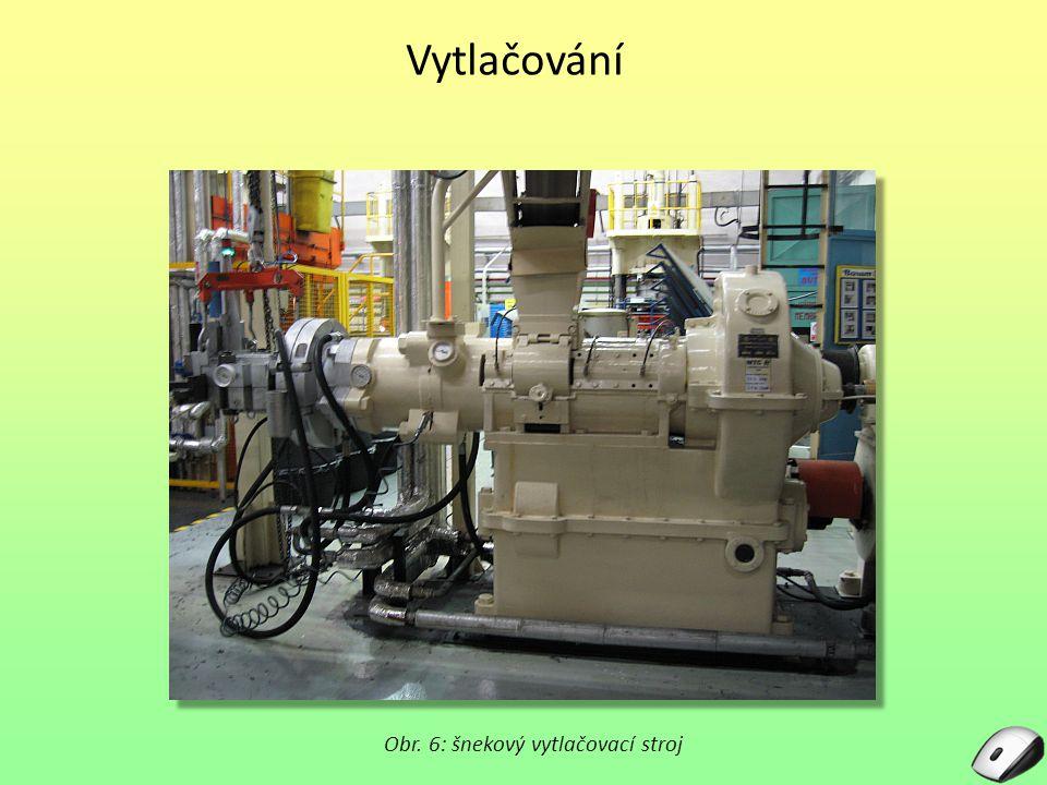 Obr. 6: šnekový vytlačovací stroj