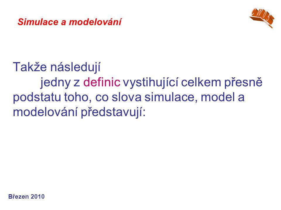 CW05 Simulace a modelování.