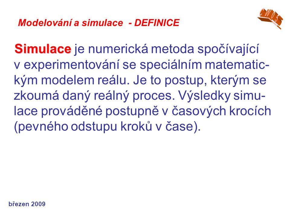 CW05 Modelování a simulace - DEFINICE.