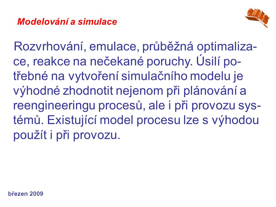 CW05 Modelování a simulace.