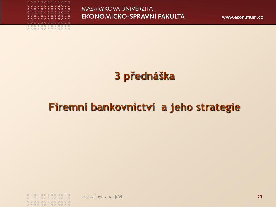 Firemní bankovnictví a jeho strategie
